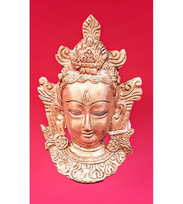 Brass Tara mask 4.5 inch fine work