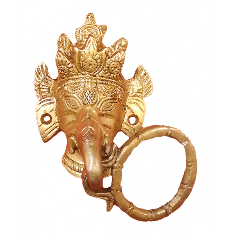 BRASS  GANESH DOOR KNOCKER