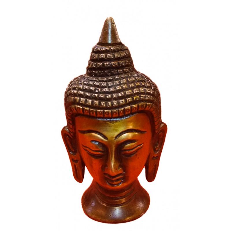 BRASS  BUDDHA HEAD 3.5 INCH
