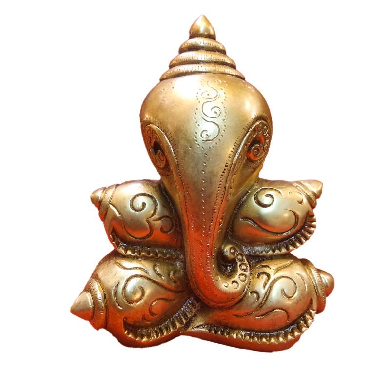 Brass Ganesh Shankh Model