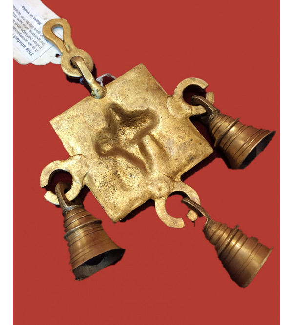 Cow Bell Shankh Chakra Handcrafted In Brass