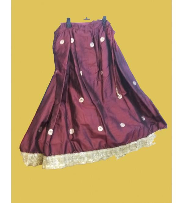 Plain Embroidery Silk Lehenga  Choli Set Size 6 to 8 yr