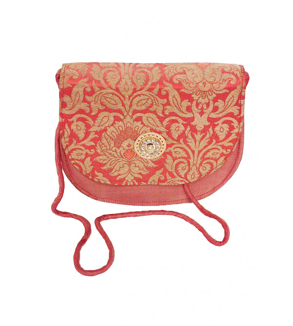 CCIC Silk Clutch Bags With Assorted Designs and Colors Size 8x6 Inch