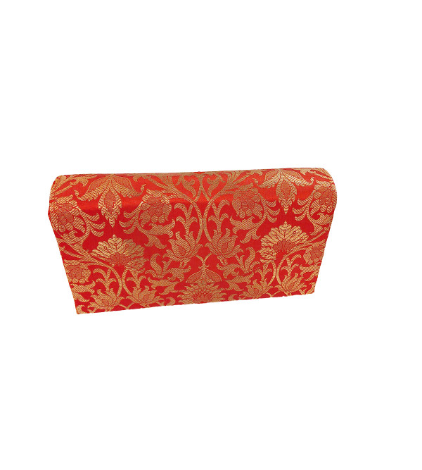 CCIC Silk Clutch Bags With Assorted Designs and Colors Size 9x5 Inch