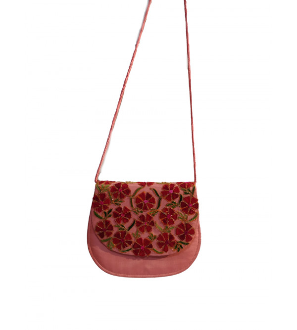 CCIC Silk Sling Bag With Assorted Designs And Colors Size 8x6 Inch