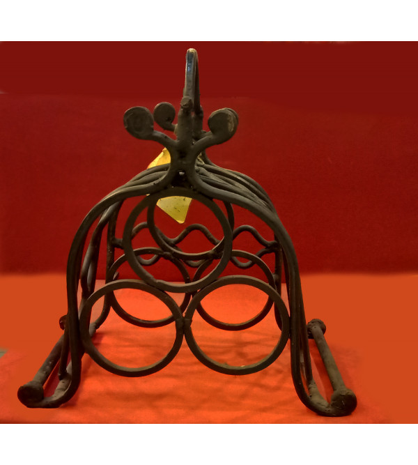 Iron Artifact Handcrafted In Bastar Art Size 13X13 Inches