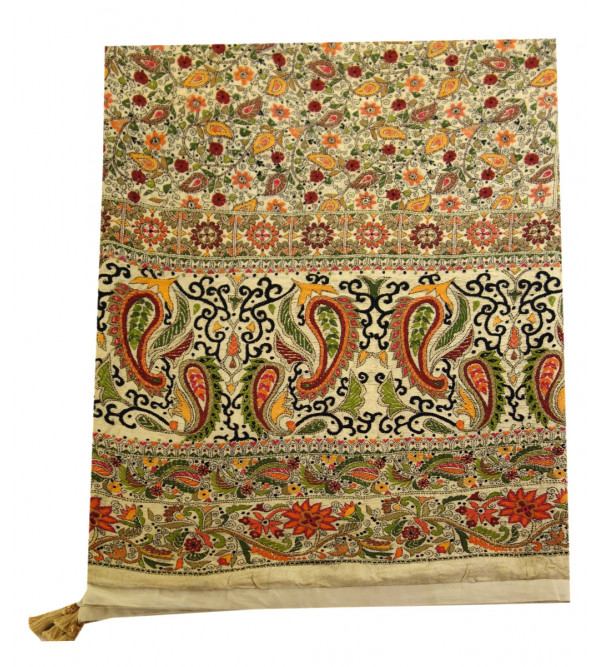 BED COVER COTTON EMBORIDERED KANTHA 90X108 INCH