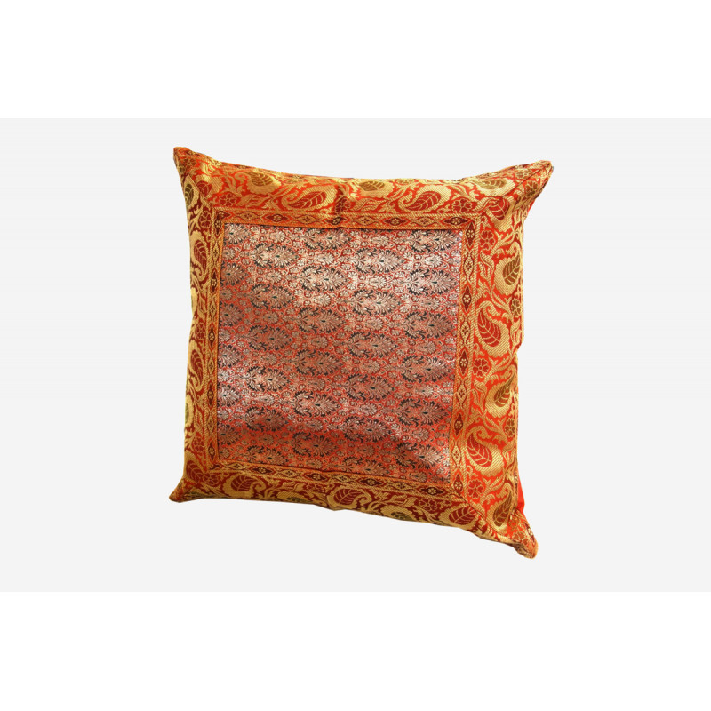 16X16 INCH BANARSHI SILK CUSHION COVER