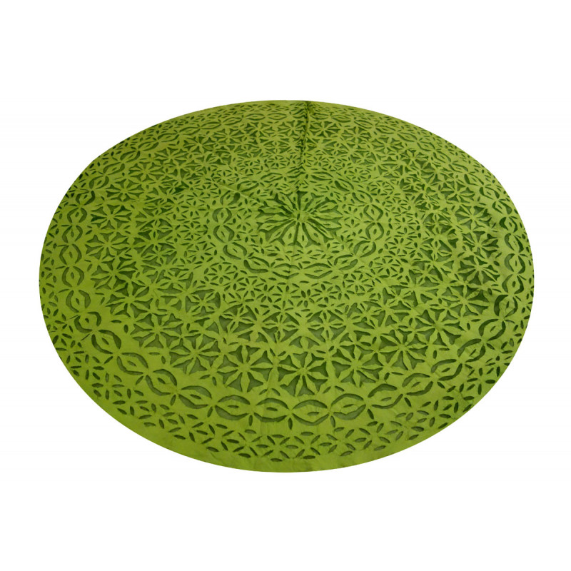 TABLE CLOTH COTTON RAJASTHAN  ROUND 60 INCH  DIA
