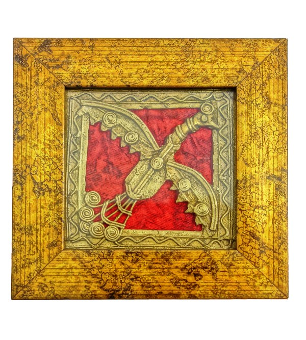 Dhokra Handcrafted Framed Panel Size 4x4 Inches