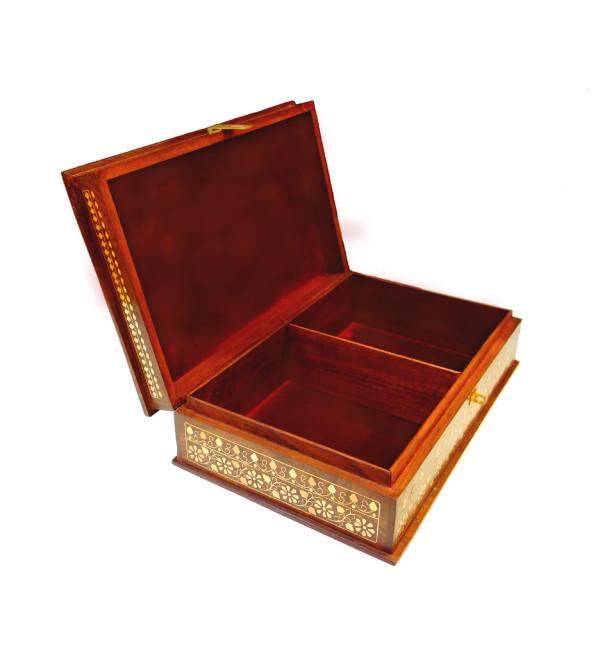 BOX BC INLAID CARVED  SHEESHAM WOOD