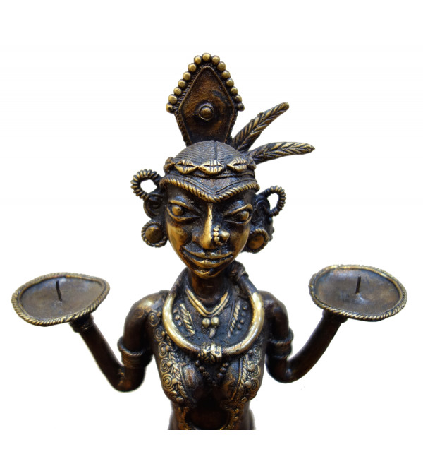 Dhokra Handcrafted Candle Stand From Bastar