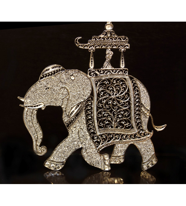 SILVER FILIGREE ELEPHANT
