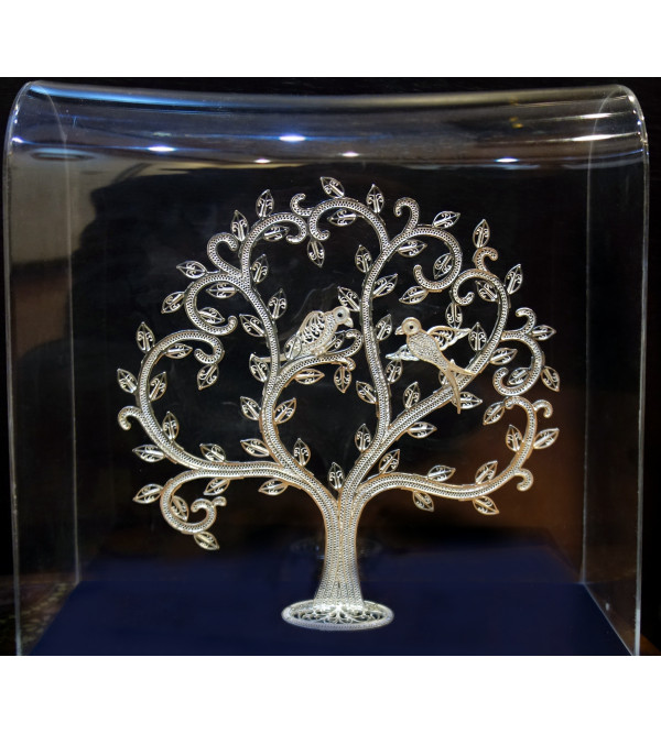 92.5 SILVER FILIGIRI TREE WITH BIRD SITTING