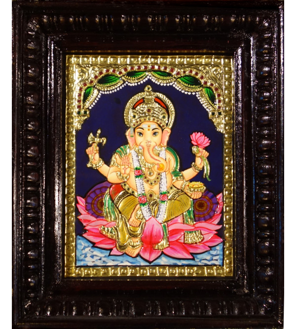 THANJAVUR PAINTING 6X8 ASSTD  GOD FIGURE TEAK WOOD FRAME