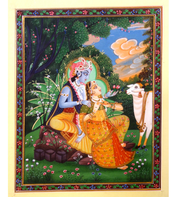 MINIATURE PAINTING RADHA KRISHNA ASSORTED