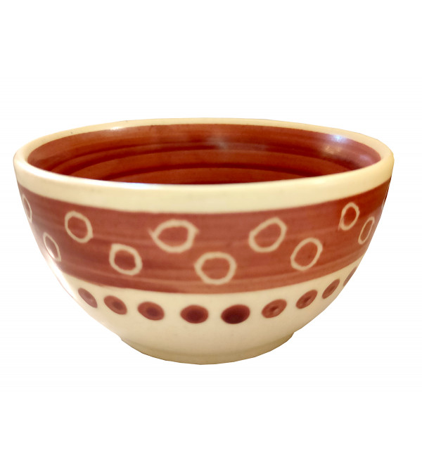 Wooden Pottery Tray With Two Bowls Assorted Sizes 4 Inch