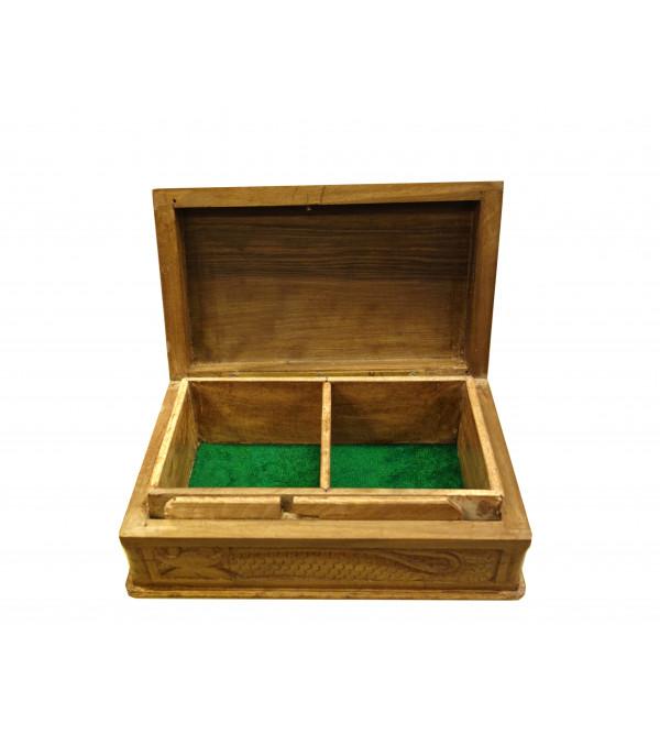 BOX WALNUT POSHKAR 8X5 INCH