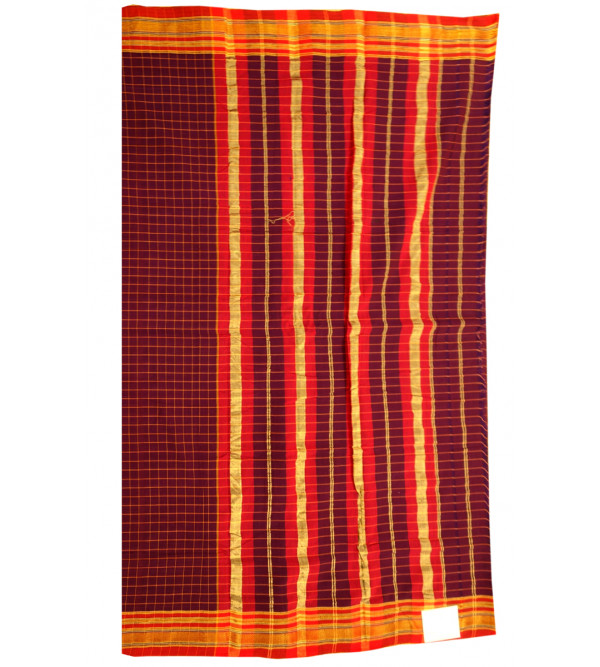 Cotton Narayanpet Hand Woven Saree With Blouse
