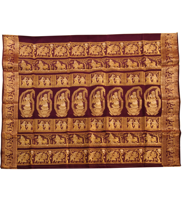 Silk Baluchari Handwoven Saree With Blouse