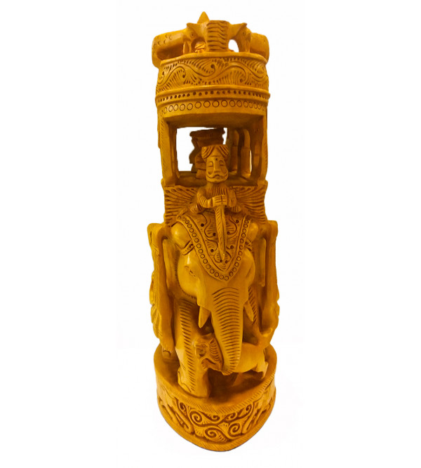 CARVED WOODEN AMBAWARI 12INCHES