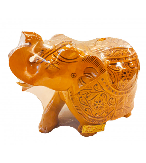 ELEPHANT CARVED 5 INCH