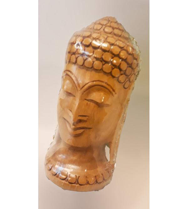 Sandalwood Handcrafted Lord Buddha Head Figure