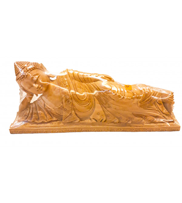 Kadamba Wood Handcrafted Carved Resting Figure of Lord Buddha