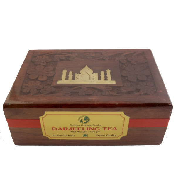 Wooden Box Darjeeling Tea 100 GMS