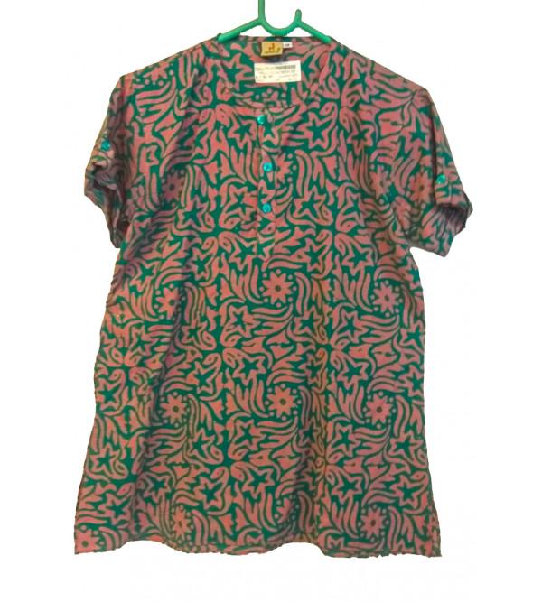 Cotton Batik Printed Short Kurta For Boys Size 6 to 8 Year