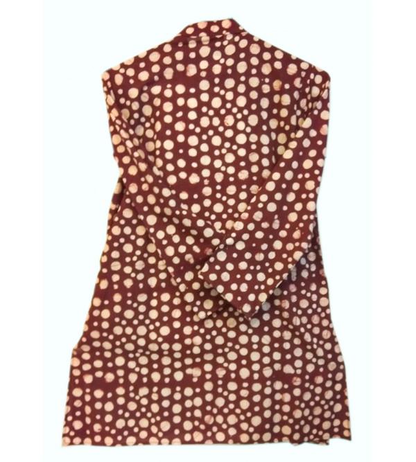 Cotton Batik Printed Kurta Pajama Set For Boys Size 6 to 8 Year