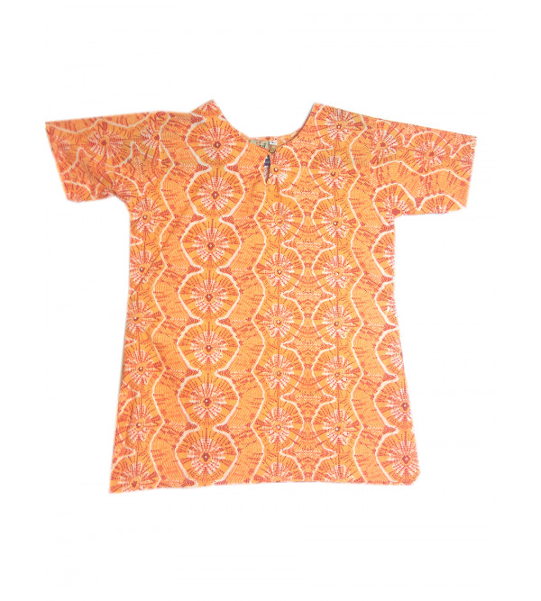 Cotton Printed Girls Top Size 6-8 Years