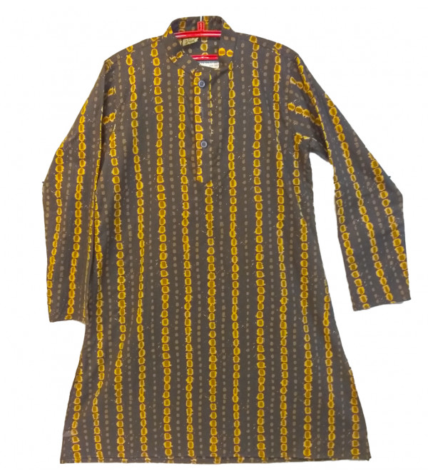 Cotton Printed  Kurta  For Boys Size 6 to 8 YEAR