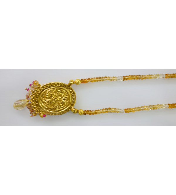 HANDICRAFT ASSORTED DESIGNS AND COLOR THEWA NECKLACE SET GOLD 1.25 SL 11 LB 1500