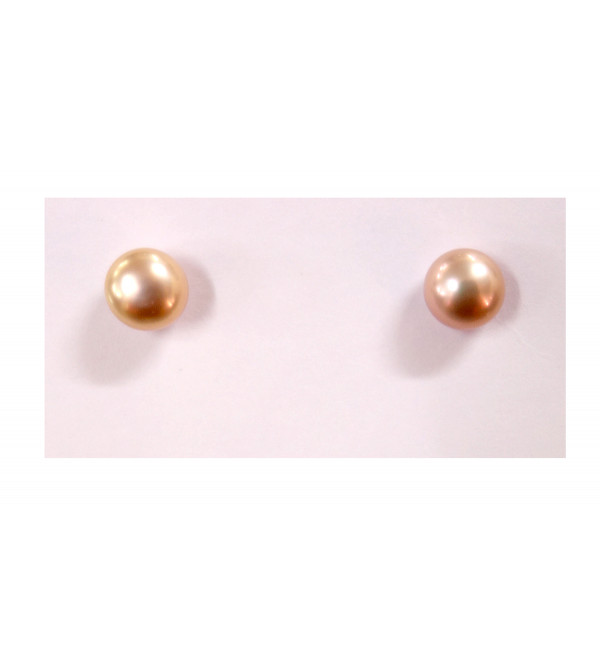 PEARL EARRINGS TOPS 9 MM