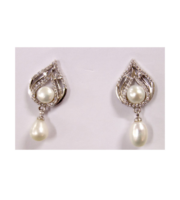 PEARL EARRING TOP PEARL DROP 6 MM