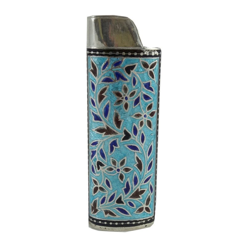 Handcrafted Silver Meenakari Lighter Case Size 3Inch