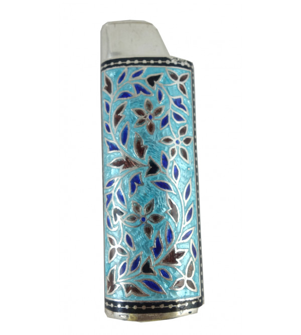 SILVER MEENA LIGHTER CASE