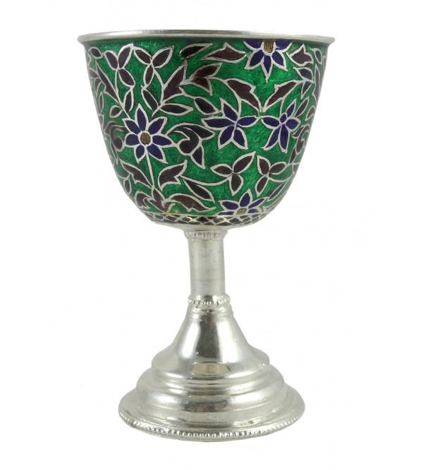 Handcrafted Silver Meenakari Cup