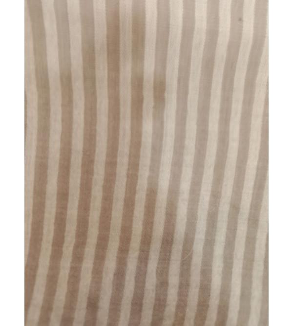 Stole Pure Pashmina Checkstripe 28X80 Inch