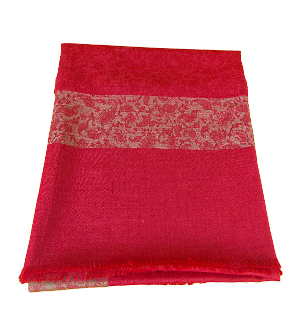 Shawl Tweed Embroidered  Size 36 X80 Inch with Assorted Color and Designs