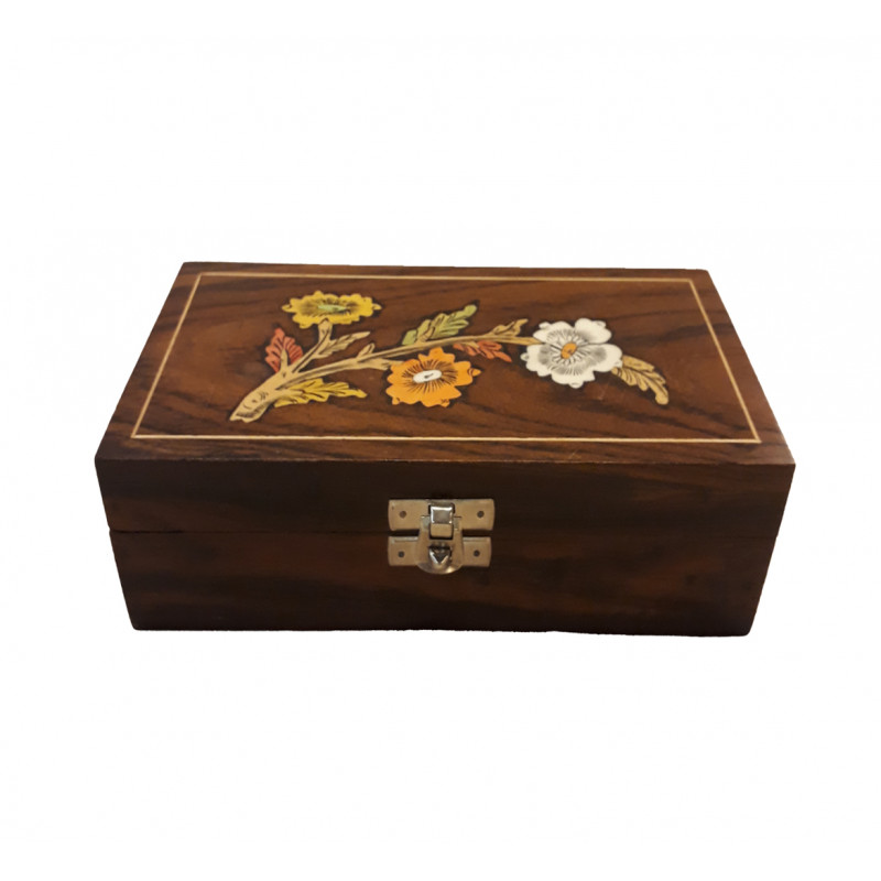 Wooden Inley Box 8 X 2 X 4 Inch