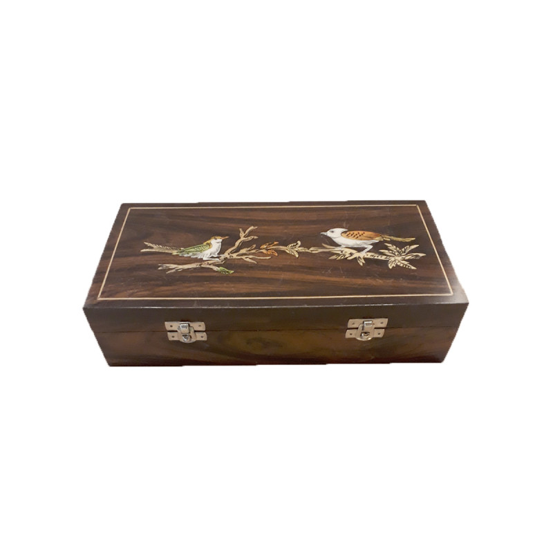 Rose Wood Handcrafted Box with Inlay Work