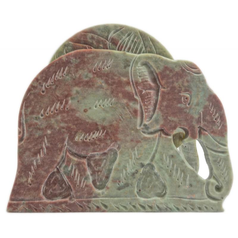 Handicraft Soft Stone Elephant Shape Coaster Set