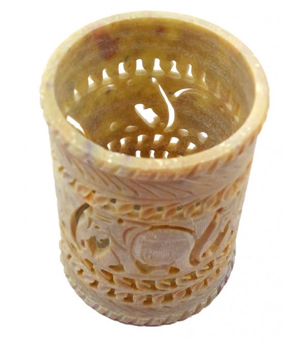 Handicrft Soft Stone Flower Vase 3x4 Inch
