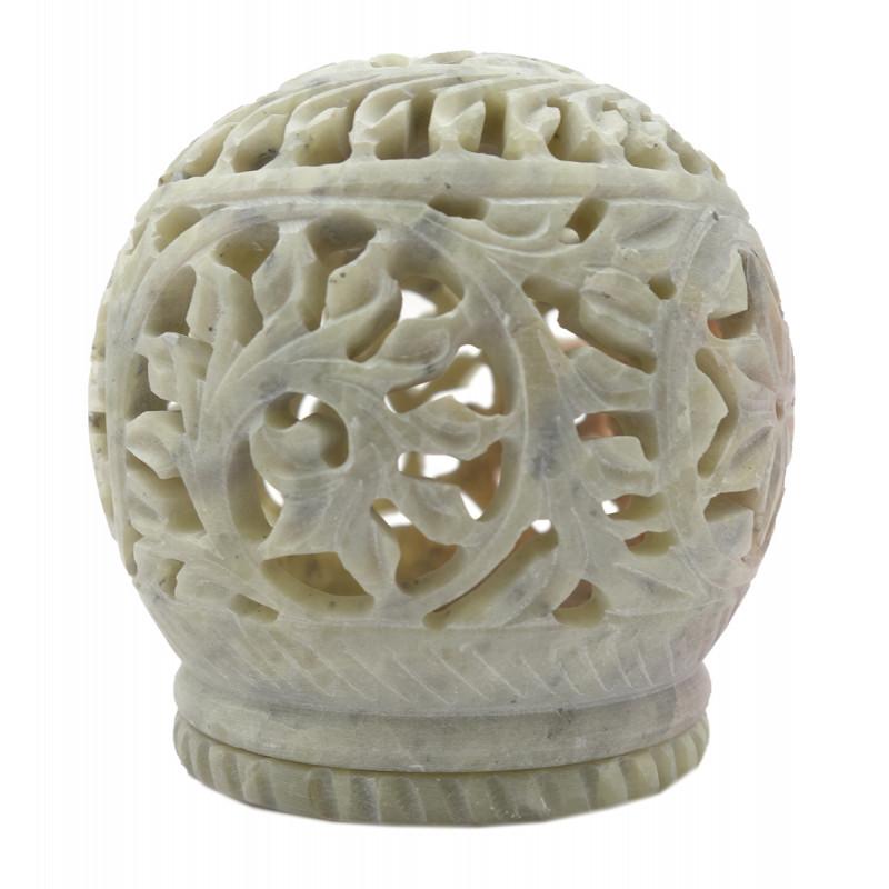Handicraft Soft Stone Ball Shape T Light  3 Inch