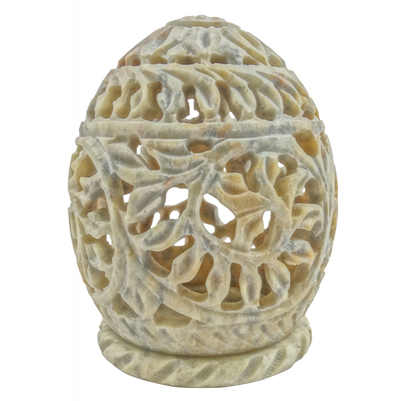 Handicraft Soft Stone Egg Shape T Light 3 Inch