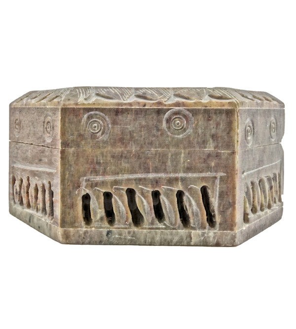 Handicraft Soft Stone Box 3x3x1.5 Inch