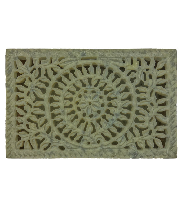 Handicraft Soft Stone Box 6x4x1.5 Inch