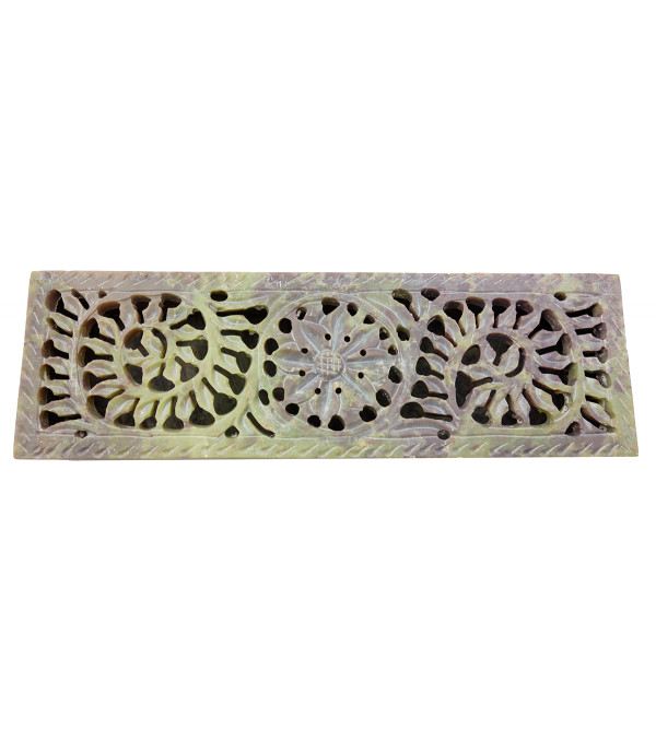 Handicraft Soft Stone Box 8x2.5 Inch